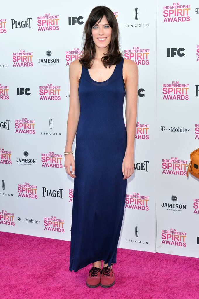 Rebecca Thomas on the red carpet at the Spirit Awards 2013.