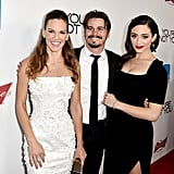 Hilary Swank, Jason Ritter, and Emmy Rossum linked up at the premiere of You're Not You in LA on Wednesday.