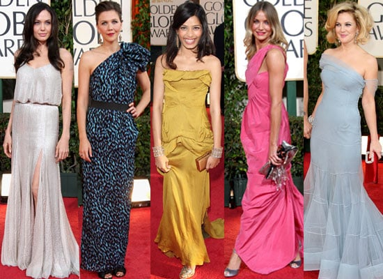 Photo Gallery Of All The Women At The Golden Globe Awards 2009, Angelina Jolie, Kate Winslet, Freida Pinto, Drew Barrymore etc