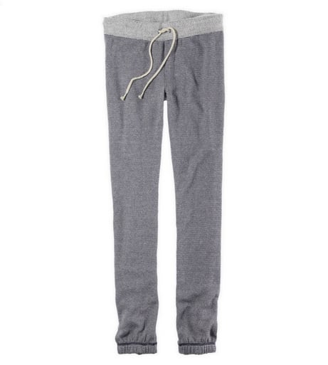 """The holidays call for cozy lounge wear — cue these Aerie French Terry Skinny Boyfriend Pants ($35), which I'm convinced will be my official """"chill"""" piece. See that drawstring waist? Perfect for wearing after a huge holiday meal. — Britt Stephens, assistant editor"""