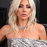 Lady Gaga's Platinum Hair With Dark Roots