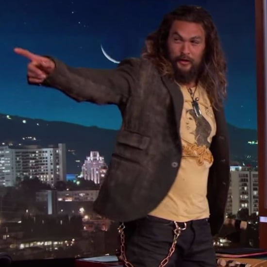 Jason Momoa Throwing Axes on Jimmy Kimmel Live Jan. 2017