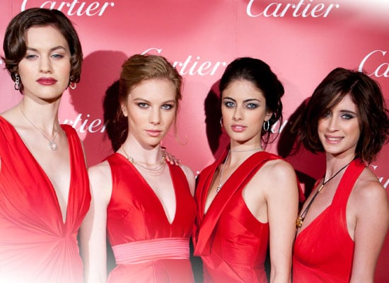Pictures of Australia's Next Top Model Contestants Caroline, Hazel, Rachel and Maddy in Alex Perry Dresses for Cartier Prize