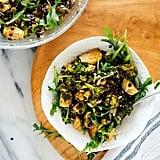 Lemony Roasted Broccoli, Arugula, and Lentil Salad