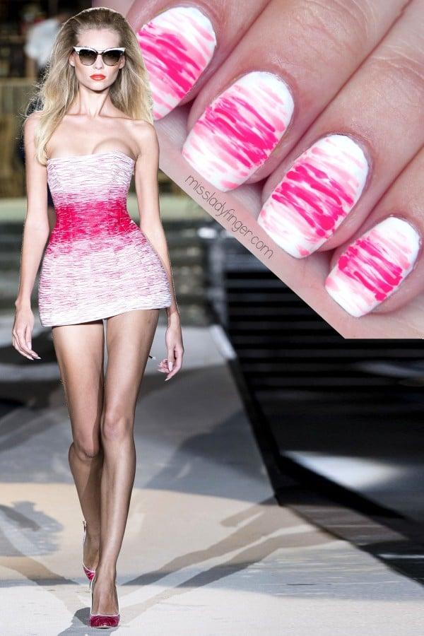Pink Summer Nail Art DIY