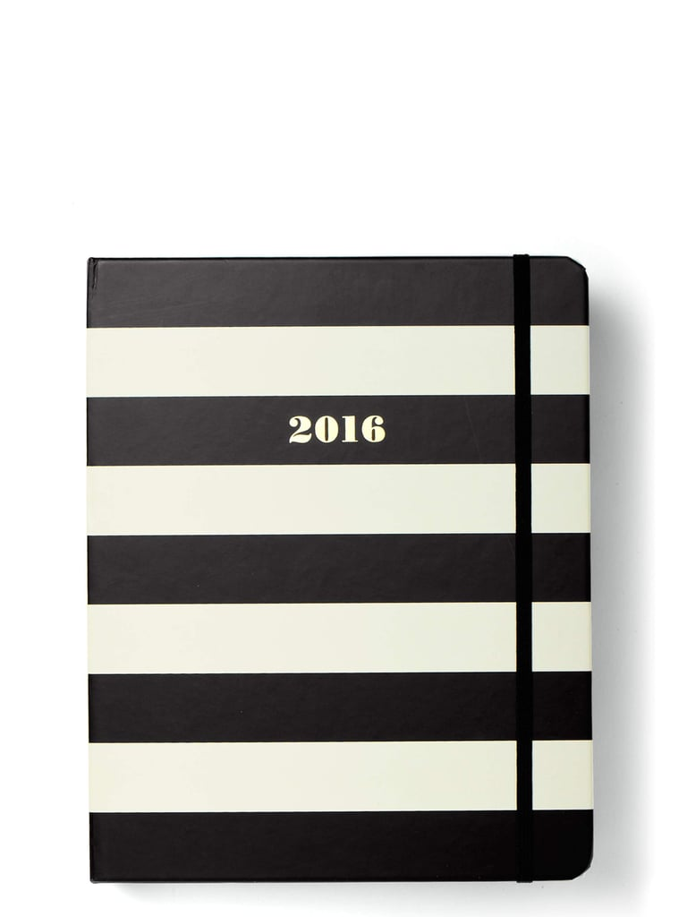 Kate Spade 2016 17-Month Black Stripe Large Agenda