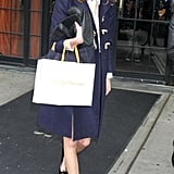 Alexa Chung displayed her signature brand of quirky-cool with a pair of Marc Jacobs's suede cat flats.