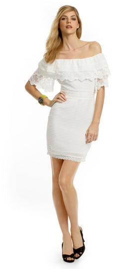 Alice by Temperley White Lace Off-the-Shoulder Dress