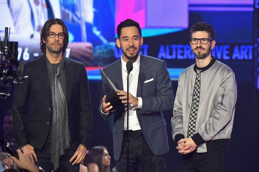 Pictured: Rob Bourdon, Mike Shinoda, and Brad Delson