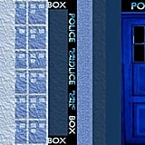 Doctor Who TARDIS paper computer graphics ($4)