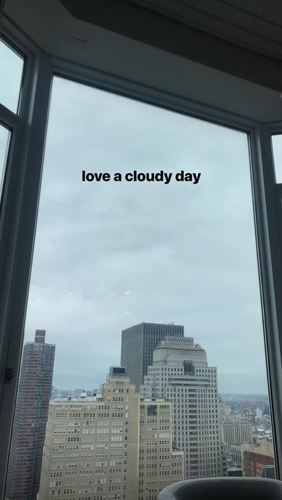 Bella Hadid Admired the NYC Weather From Her Window