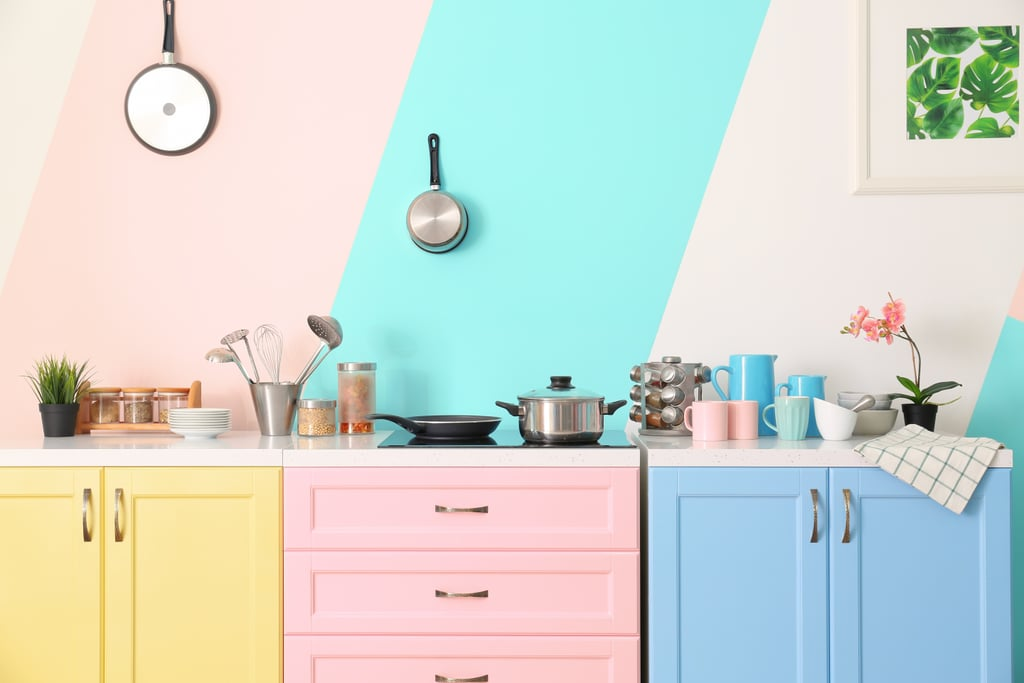 Hang Your Kitchen Gadgets On Walls Painted in Trendy Colors