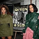 Beyoncé Wears Green Balmain Outfit at Queen & Slim Screening