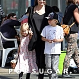 Angelina Jolie took her kids out for a Sunday fun day in Sydney, Australia.