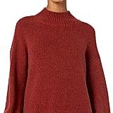 Goodthreads Boucle Shaker Stitch Balloon-Sleeve Sweater