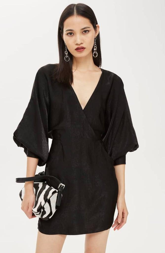 4f7fc4342f39 Topshop Velvet Satin Minidress | Chrissy Teigen Black Velvet Dress ...