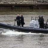 The shots were taken on the Thames in London.