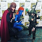 Magneto, Mystique, and Arrow