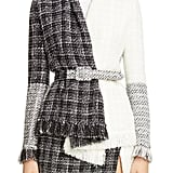 Oscar de la Renta Belted Colorblock Tweed Jacket