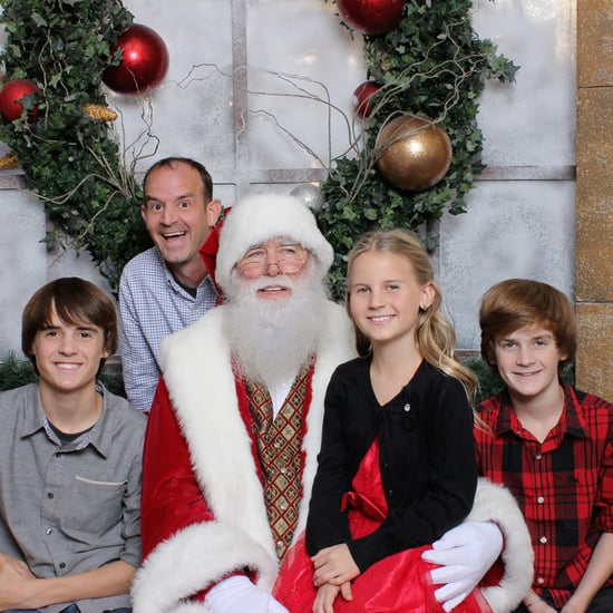 Military Dad Surprises Family With Santa Photo