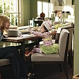 Julie Bowen as Claire and Aubrey Anderson-Emmons as Lily on Modern Family.  Photo copyright 2011 ABC, Inc.