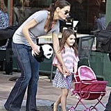 Katie Holmes and Suri Cruise took a stroll around Pittsburg.