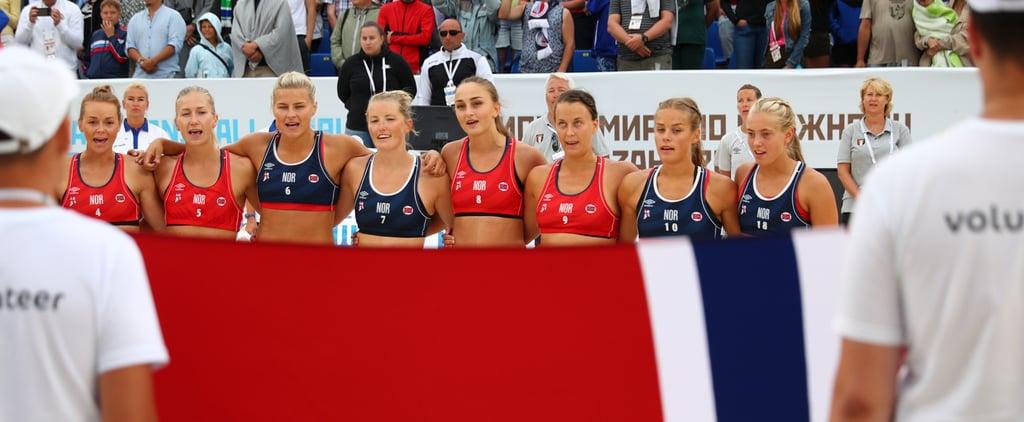 Norwegian Women's Handball Players Fined For Uniforms