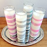 Glitter Wedding Candles