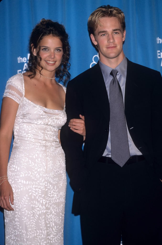 Katie Holmes and James Van Der Beek at the 1998 Emmy Awards