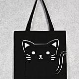 Forever 21 Cat Pocket Tote Bag