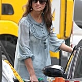 Pippa Middleton gets gas for her car.