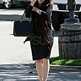 Jennifer Garner juggled her purse on the way to lunch.