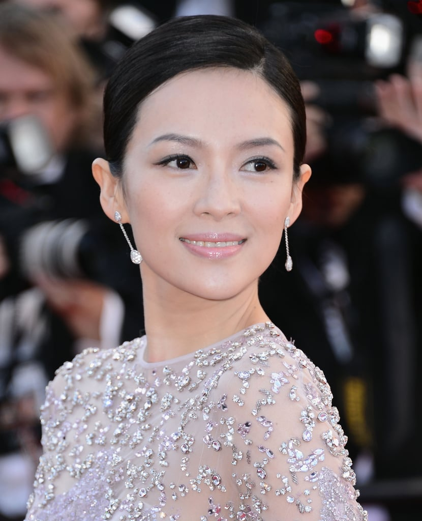 Ziyi Zhang's pastel makeup palette at the La Vénus à la Fourrure premiere in Cannes would pair perfectly with an ivory dress.