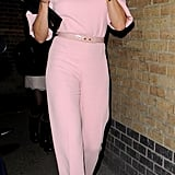 Cameron Diaz wore a pink Emilia Wickstead pantsuit for a dinner party in London in honor of President Obama.