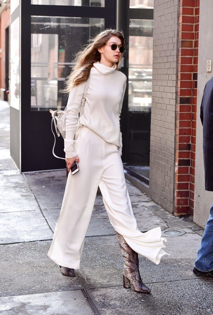 Gigi Hadid's a Fan of the Oversize Turtleneck