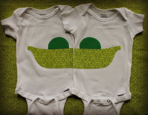 47dcc3a7d Two Peas in a Pod | Onesies For Twins | POPSUGAR Family Photo 2