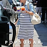 Pregnant Reese Witherspoon in Striped Dress | Pictures