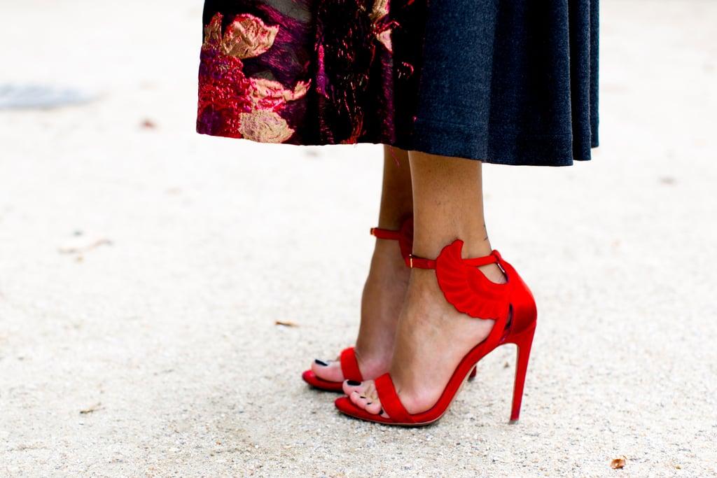Fiery heels.