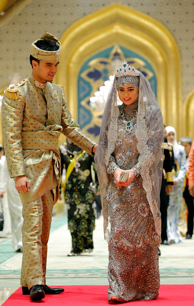 Princess Hajah Hafiza Sururul Bolkiah and Pengiran Haji Muhammad Ruzaini  The Bride: Princess Hajah Hafiza Sururul Bolkiah, the fifth daughter of Brunei's sultan. The Groom: Pengiran Haji Muhammad Ruzaini. When: The civil ceremony was on Sept. 20, 2012, followed by a lavish celebration on Sept. 23, 2012. Where: Nurul Iman Palace in Brunei's capital Bandar Seri Begawan.