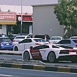 UAE Ministry of Interiors Drives Lamborghini Aventador Coupe