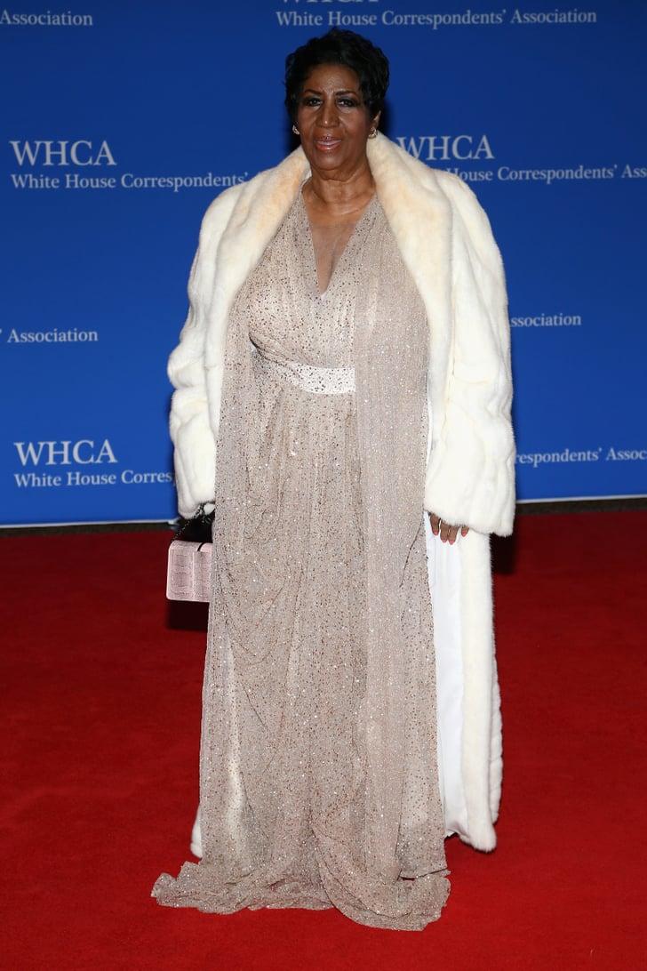 Aretha Franklin White House Correspondents Dinner Red