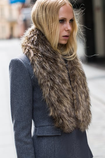 I'm pretty sure I would wear this Emerson Fry high tech fur collar ($188) with just about everything, maybe even when I'm at home in my pajamas. It's luxurious all by itself, but totally versatile in what it can be styled against. From the most pared-down jeans-and-jacket look to a formal night out ensemble, it's a Winter must have in my book.