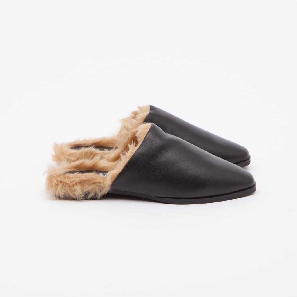 Sol Sana Kim Fur Slide ($135)