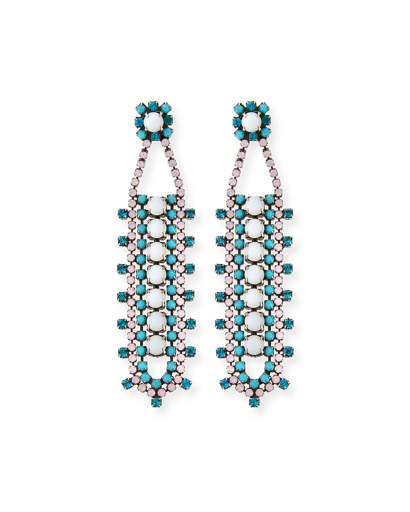 Dannijo Violeta Crystal Drop Earrings ($276, originally $395)