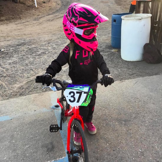 Pink and Carey Hart's Daughter Willow's First BMX Race