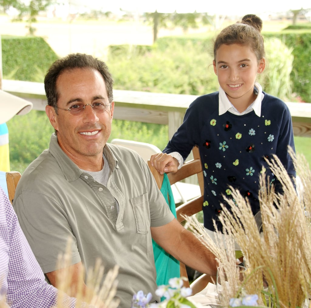 Jerry Seinfeld had his daughter, Sacha, with him at the Hampton Classic Horse Show in September.