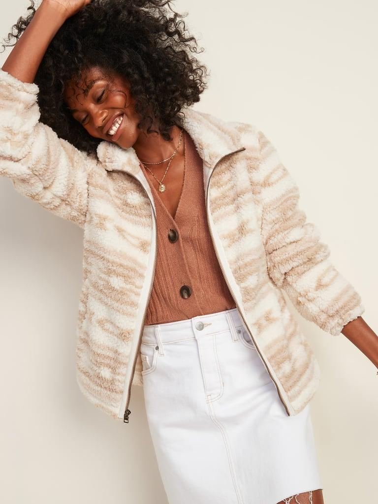 Cozy Sherpa Zip-Front Jacket