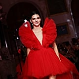 Kendall Jenner Walking the Runway at the Giambattista Valli Loves H&M Show in Rome in October 2019