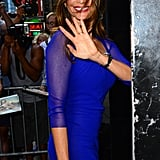 Sofia Vergara Waves to Fans and Flashes Her Engagement Ring