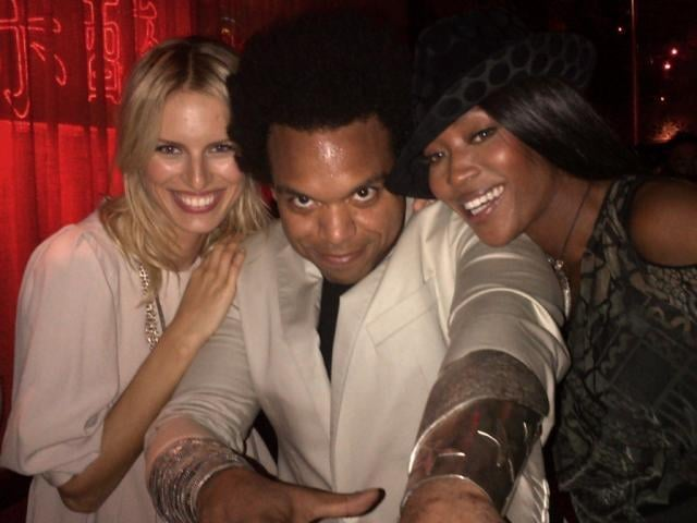 Karolína Kurková partied with Naomi Campbell. Source: Twitter user karolinakurkova